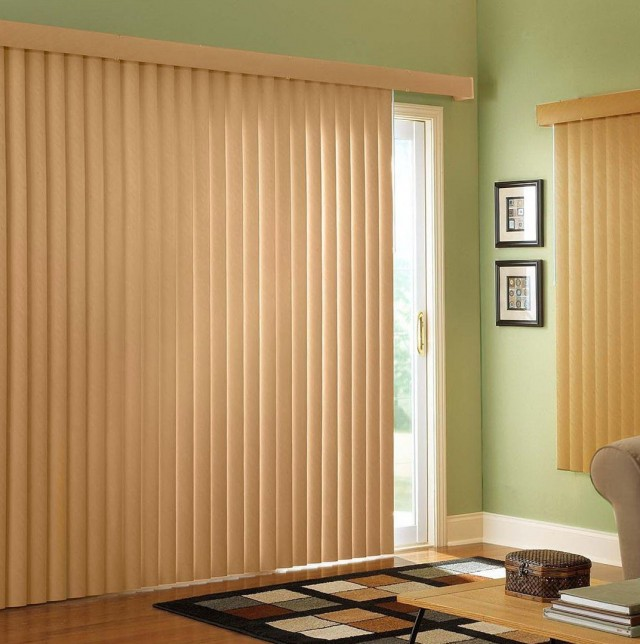 Sliding Door Curtains Over Blinds