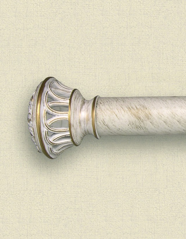 Antique White Curtain Rods