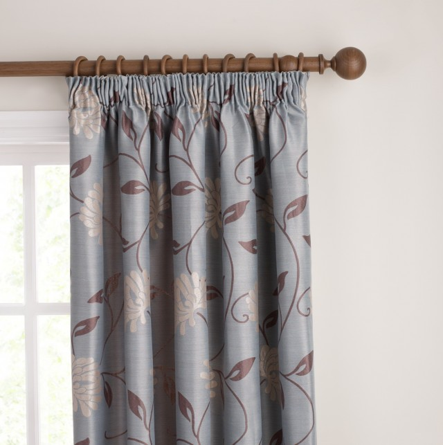 Duck Egg Blue And Brown Curtains Uk