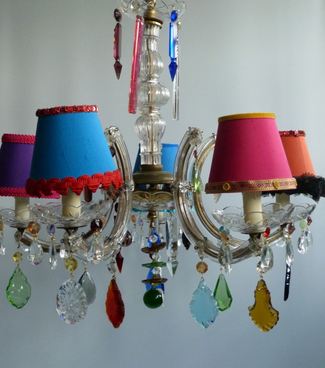 Lamp Shade Chandelier Pinterest