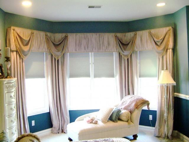 Modern Bay Window Curtain Ideas