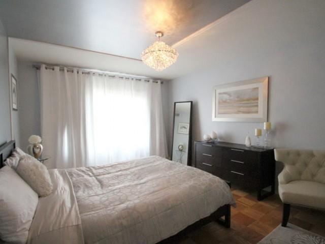 Modern Crystal Chandelier Bedroom