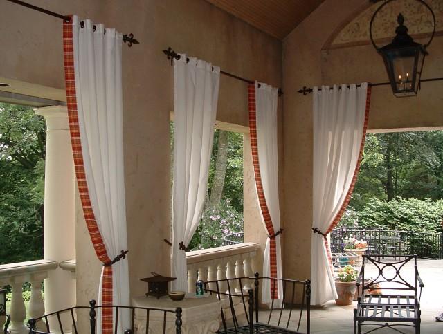 Outdoor Curtain Rod Ideas