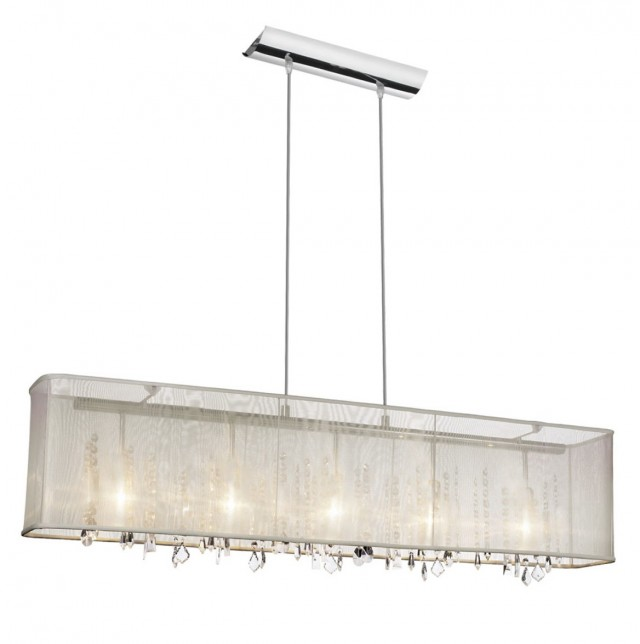 Rectangular Chandelier With Shade