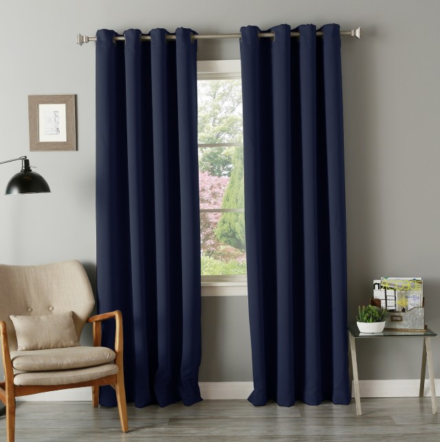 Royal Blue Sheer Curtains