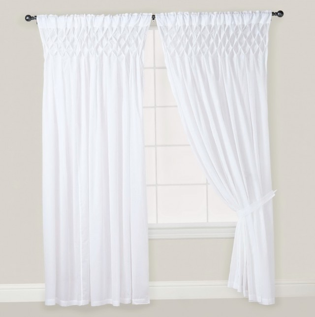 White Tie Top Curtains