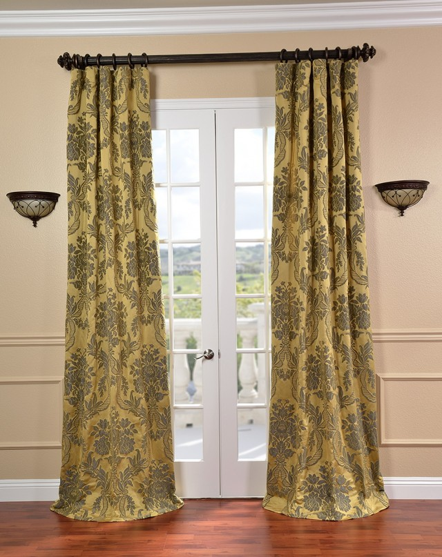 Yellow Black And White Curtains