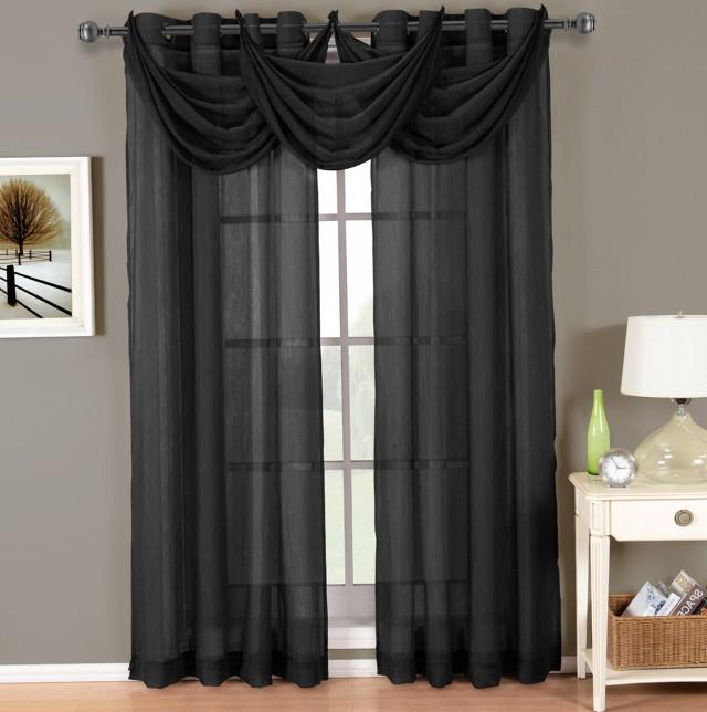 Dark Grey Sheer Curtains