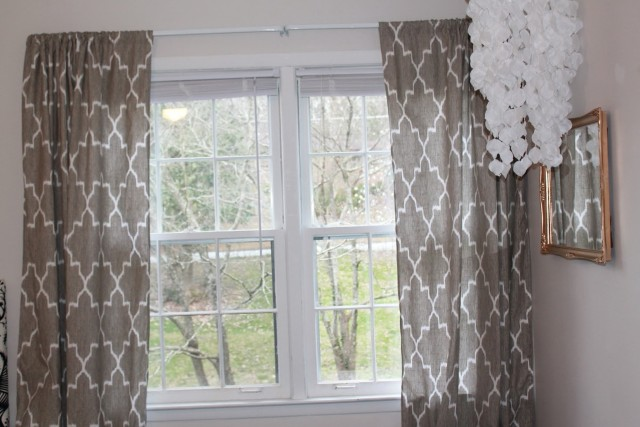 Grey And White Window Curtains
