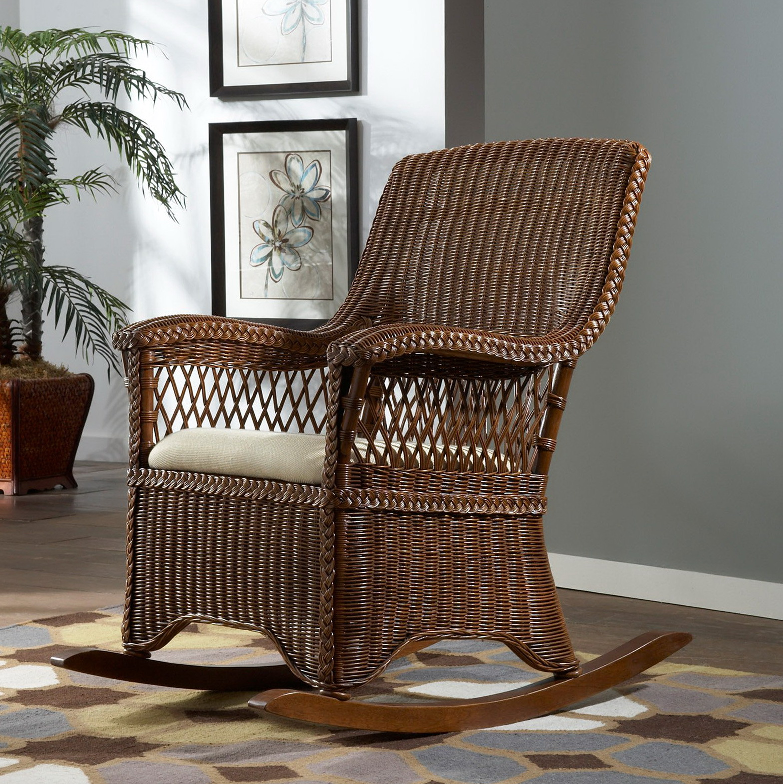 Indoor Wicker Rocking Chair Indoor Wicker Chair Cushions Home Design Ideas