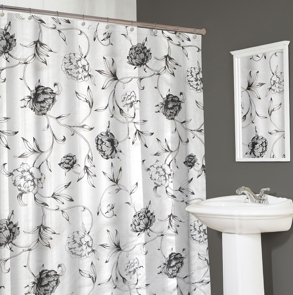 Map Shower Curtain Fabric