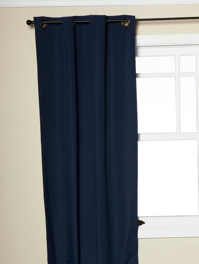 Navy Blue Blackout Curtains 84