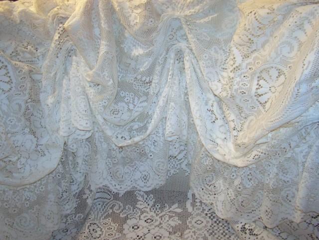 Vintage Lace Shower Curtains
