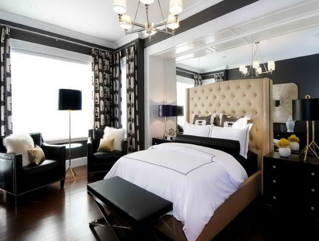 Black And White Bedroom Curtains Ideas