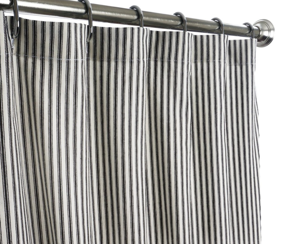 Extra Long Black Shower Curtain