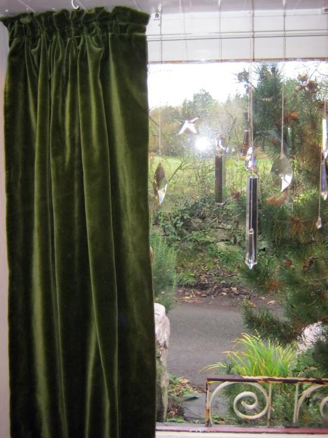 Green Velvet Curtains Ikea