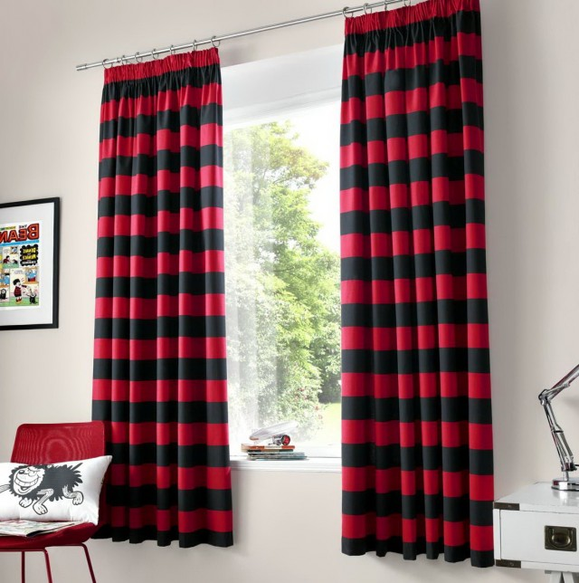 Red And Black Curtain Panels