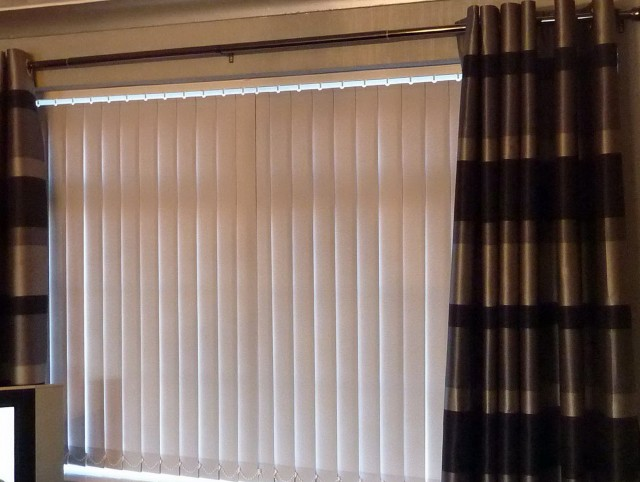 Vertical Blinds With Curtains