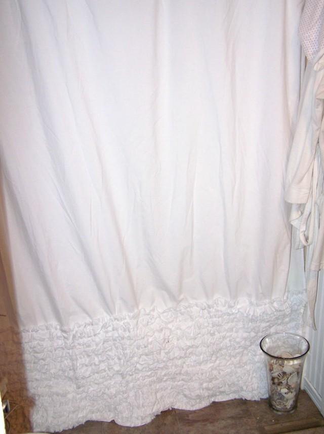 White Ruffle Shower Curtain Anthropologie