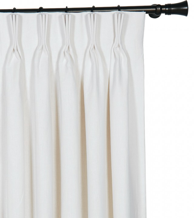 White Silk Curtains Lined