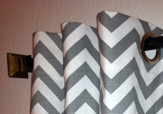 White And Grey Window Curtains