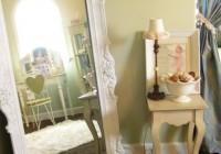 antique white floor mirror