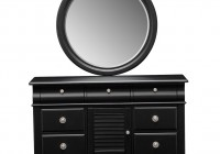 Black Dresser And Mirror