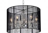 black drum chandelier with crystals