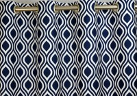 Black White And Blue Curtains