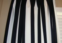 Black White Striped Curtains Vertical