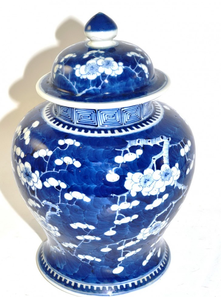 Permalink to Blue And White Vase With Lid