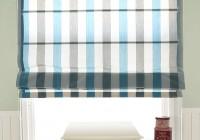 Blue Grey Striped Curtains