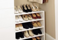 built in shoe racks for closets