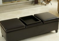 Cushioned Coffee Table With Storage