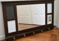 Entry Mirror With Hooks