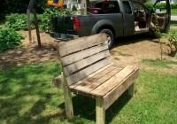 Garden Work Bench Made From Pallets