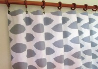 Grey And White Grommet Curtains