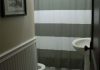 Grey Striped Shower Curtains
