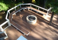 Ground Level Deck With Firepit