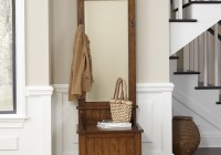 Hall Tree With Mirror And Bench