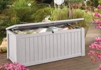 Keter Brightwood Deck Box 120 Gallon White