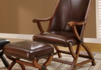 Leather Accent Chair With Ottoman