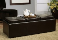Leather Ottoman With Tray