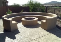 Log Fire Pit Benches