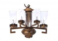 mid century modern brass chandelier