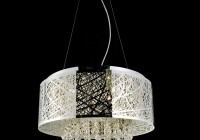 Pendant Chandelier With Drum Shade