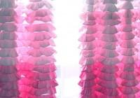 Pink Ruffle Curtain Panels