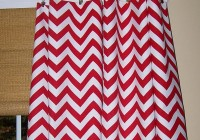 Red And White Curtains Designs
