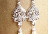 Rhinestone Chandelier Earrings Wedding