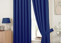 Royal Blue Patterned Curtains